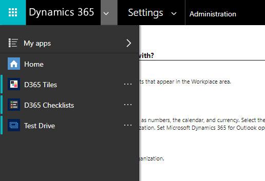 Dynamics 365 App Selector